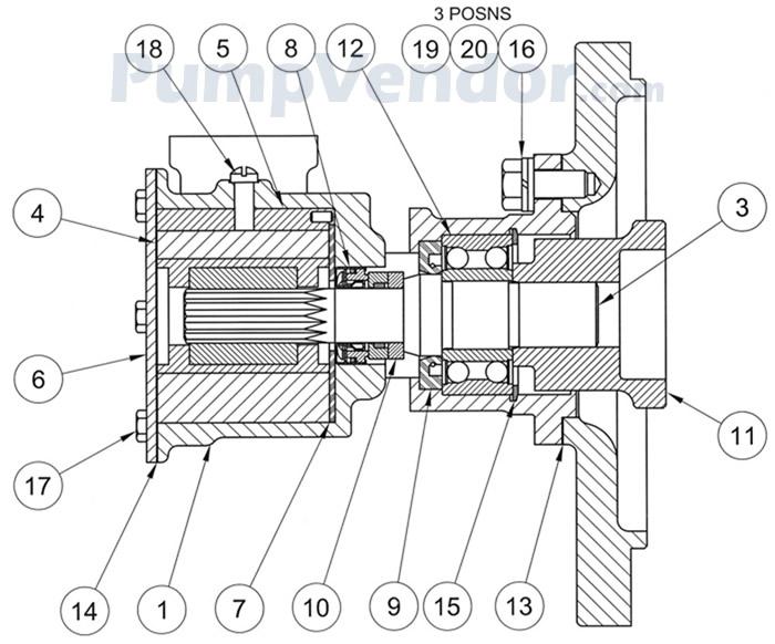 Jabsco 17050-0001 Parts List