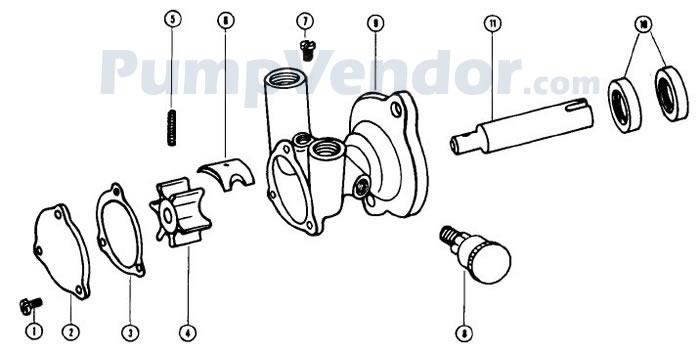 Jabsco 17120-0001 Parts List