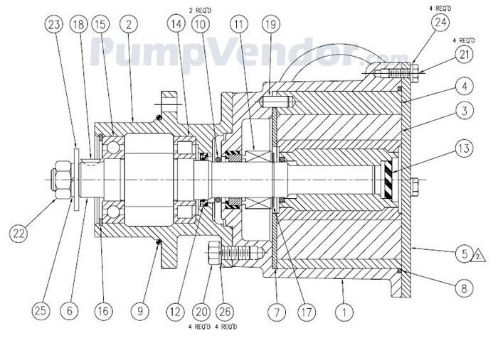 Jabsco 17540-0001 Parts List