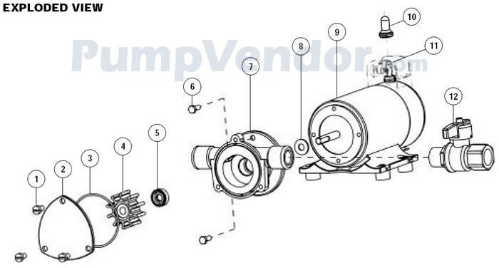 Jabsco 17830-0012 Parts List