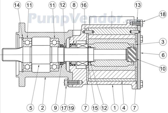 Jabsco 17970-0100 Parts List