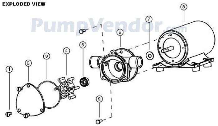 Jabsco 18220-1123 Parts List