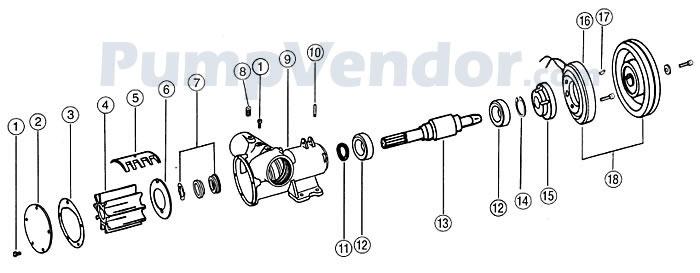 Jabsco 18330-0000 Parts List