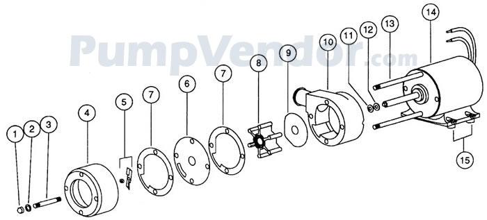 Jabsco 18590-0010 Parts List