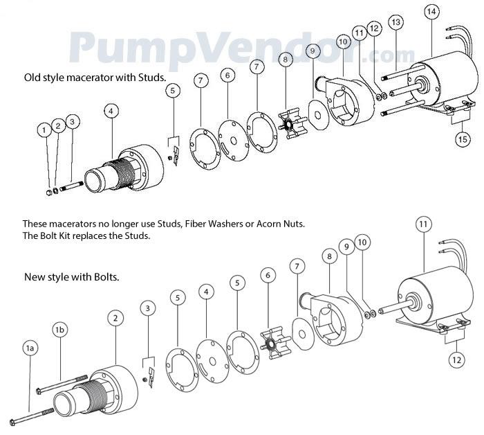 Jabsco 18590-2092 Parts List