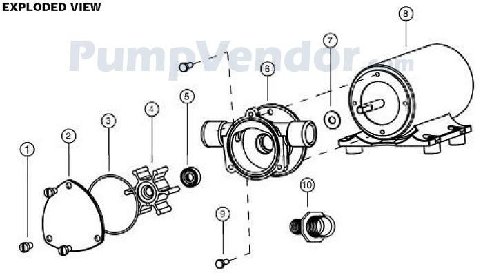 Jabsco 18660-0123 Parts List