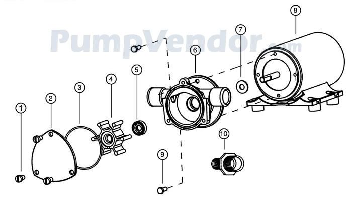 Jabsco 18670-0943 Parts List