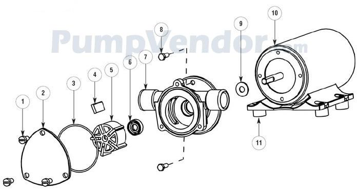 Jabsco 18680-0940 Parts List