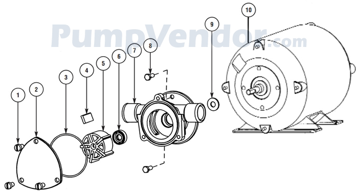 Jabsco 18685-0000 Parts List