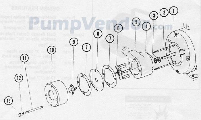 Jabsco 18690-0010 Parts List