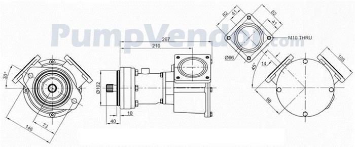Jabsco 18770-0003 Parts List