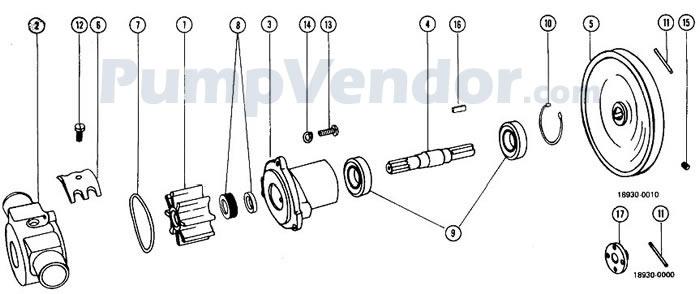 Jabsco 18930-0000 Parts List