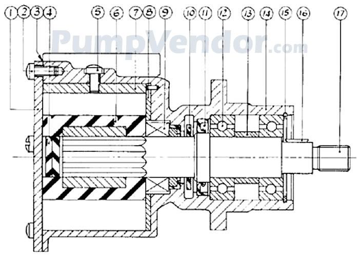 Jabsco 21180-05 Parts List