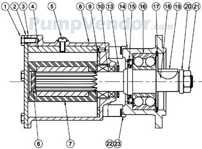 Jabsco 22040-0501 Parts List
