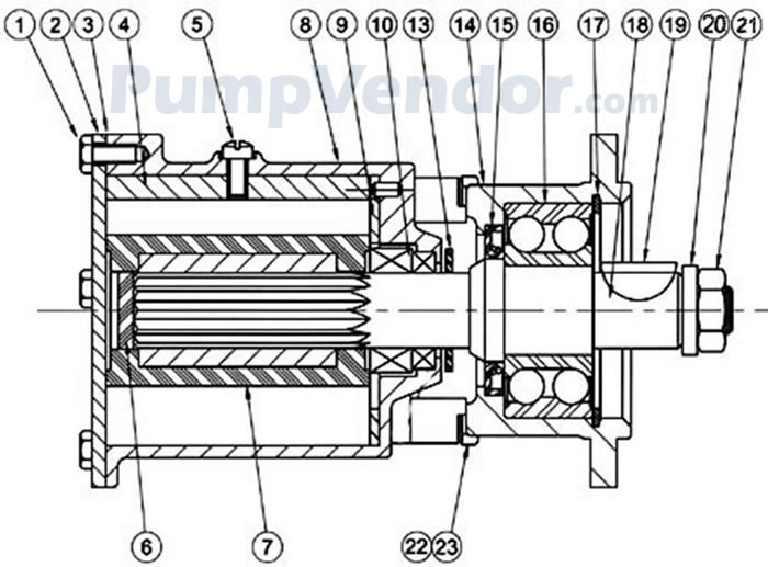 Jabsco 22040-0531 Parts List