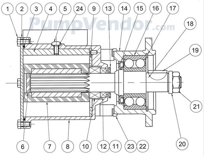 Jabsco 22040-0701 Parts List