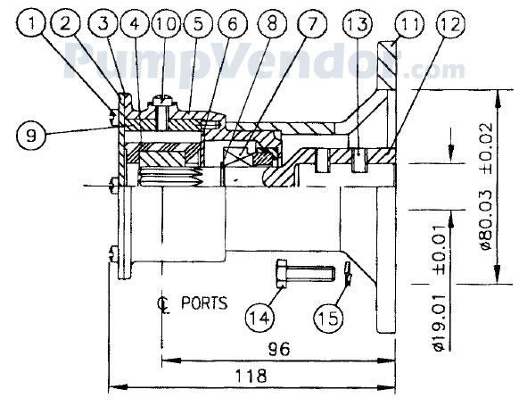 Jabsco 22860-2121 Parts List