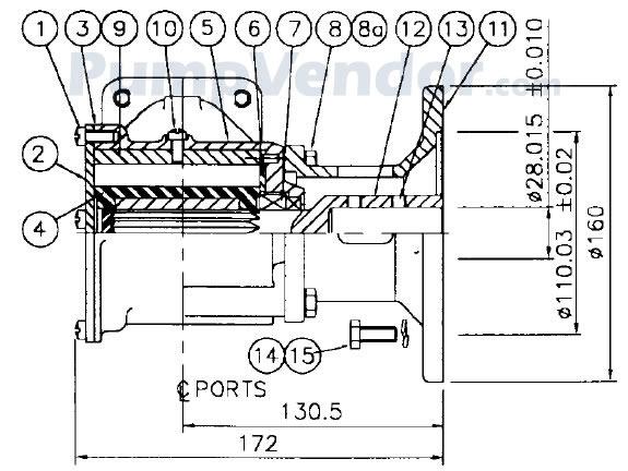 Jabsco 22880-0033 Parts List