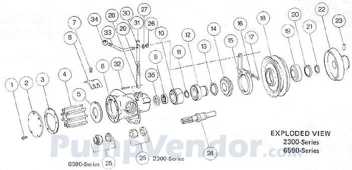 Jabsco 2300-9005 Parts List