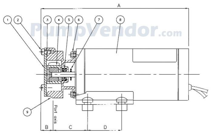 Jabsco 23610-3103 Parts List