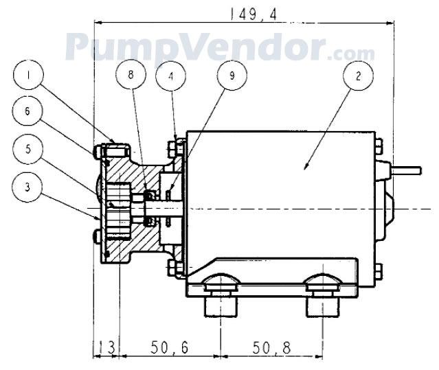 Jabsco 23620-4003 Parts List