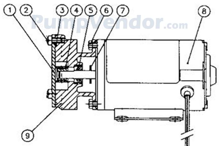 Jabsco 23670-4003 Parts List