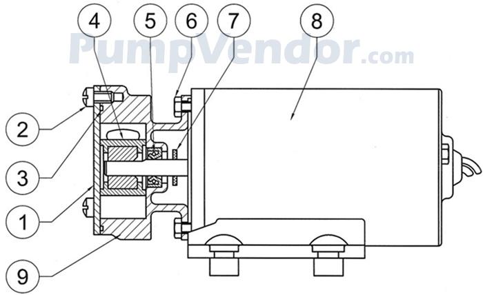 Jabsco 23680-4003 Parts List