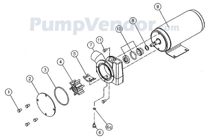Jabsco 23920-9313 Parts List