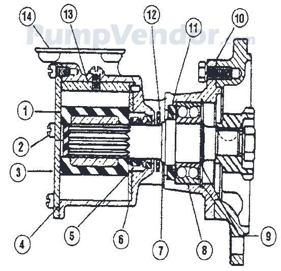 Jabsco 2570-3100 Parts List