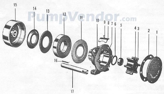 Jabsco 2620-0001 Parts List