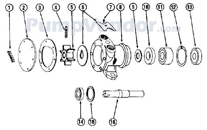 Jabsco 2760-0001 Parts List