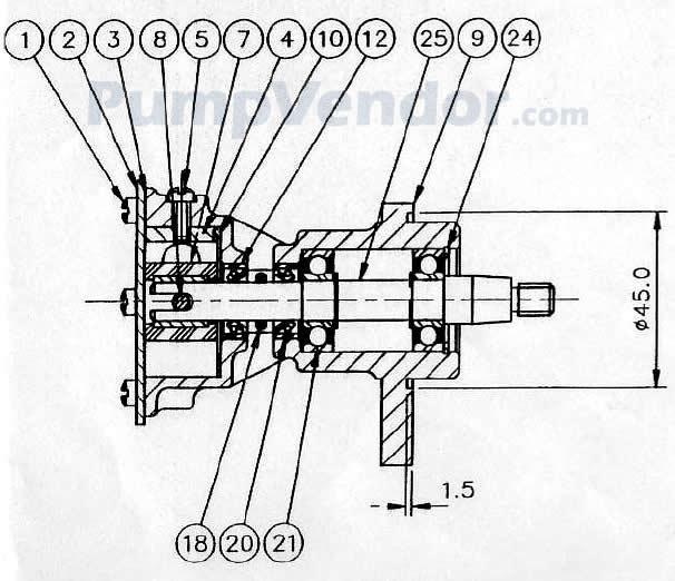 Jabsco 29350-1001 Parts List