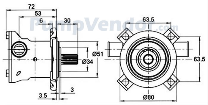 Jabsco 29460-1051 Engine Cooling Pump