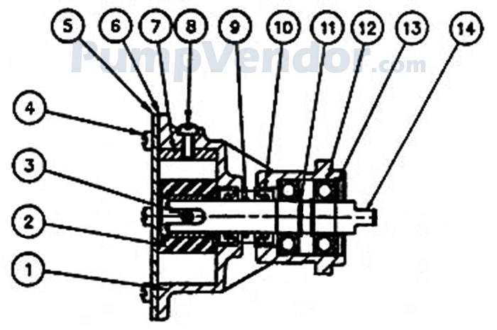 Jabsco 29460-1431 Parts List