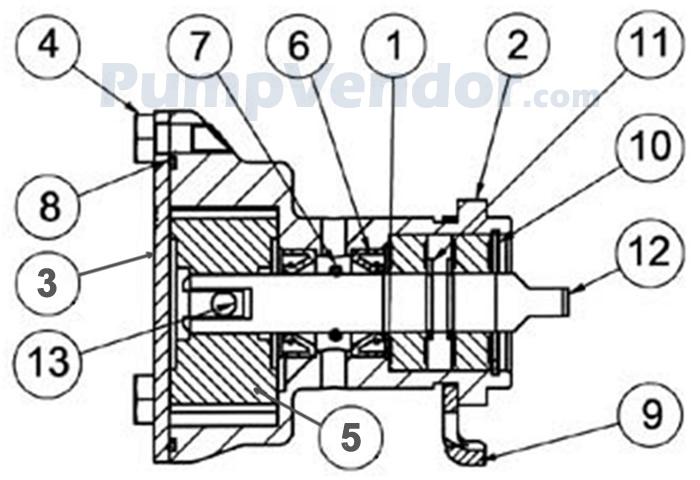 Jabsco 29460-1631 Parts List