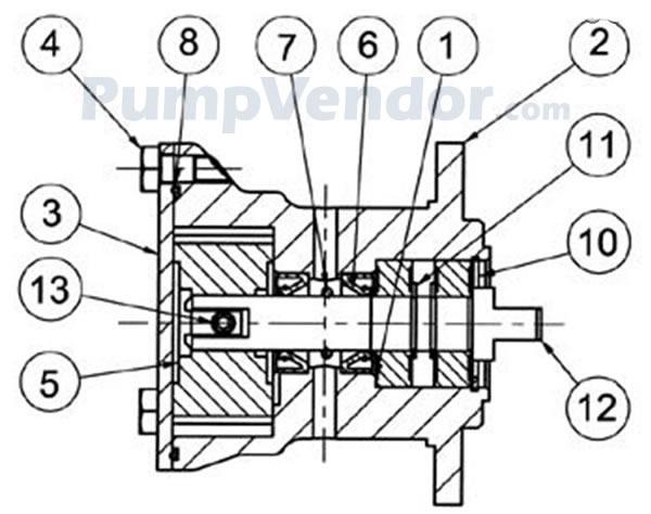Jabsco 29460-1701 Parts List
