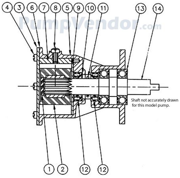 Jabsco 29500-1101 Parts List