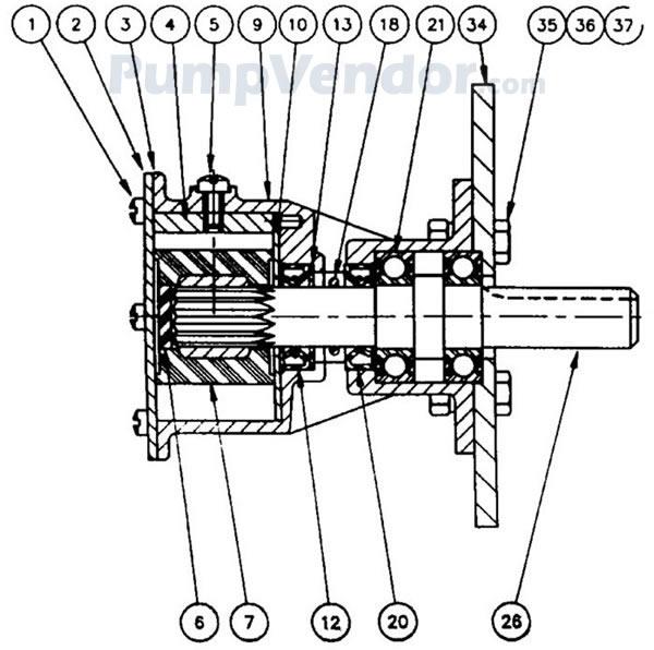 Jabsco 29500-1201 Parts List