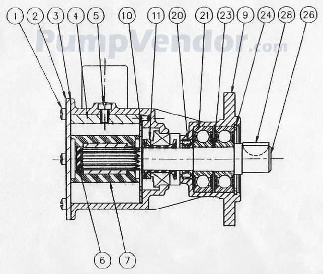 Jabsco 29600-1001 Parts List