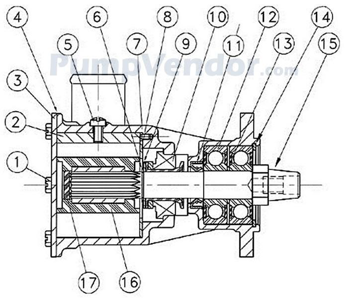 Jabsco 29600-1201 Parts List