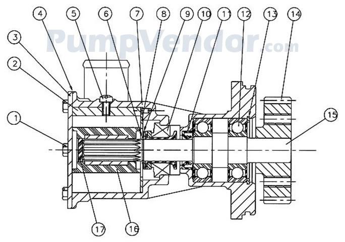 Jabsco 29630-1101 Parts List