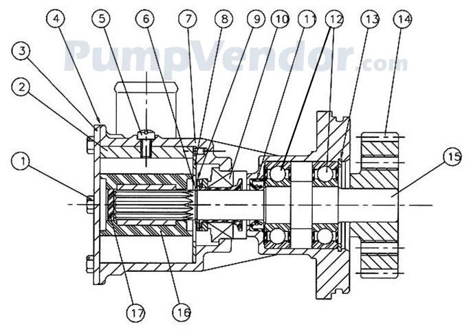 Jabsco 29630-1201 Parts List