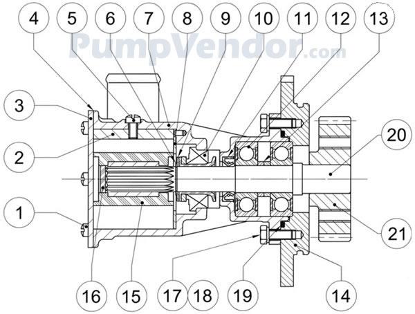 Jabsco 29640-1101 Parts List