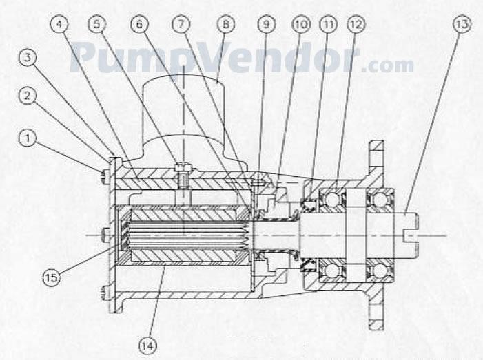 Jabsco 29700-1331 Parts List