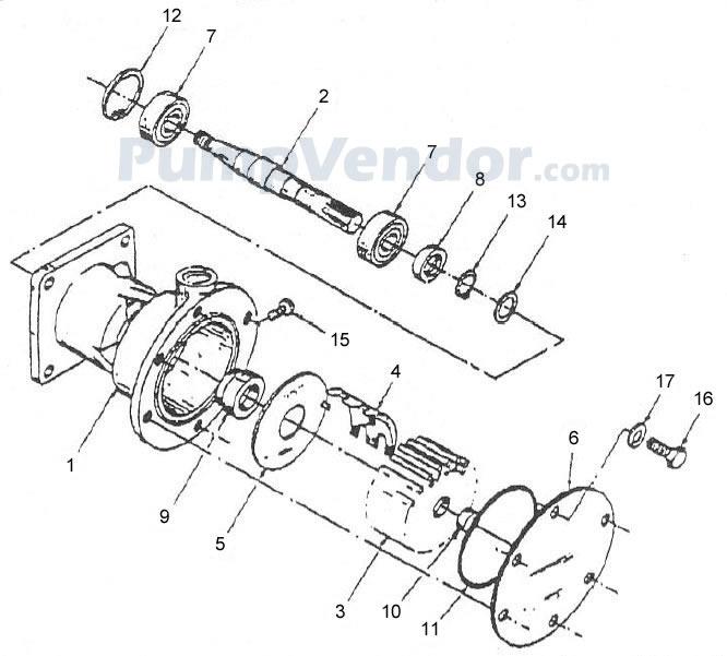 Jabsco 30410-9001 Parts List