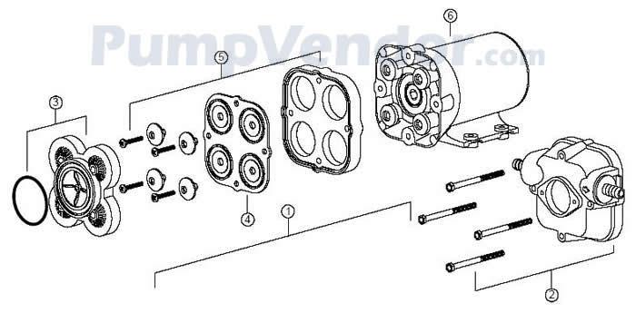 Jabsco 30620-0012 Parts List