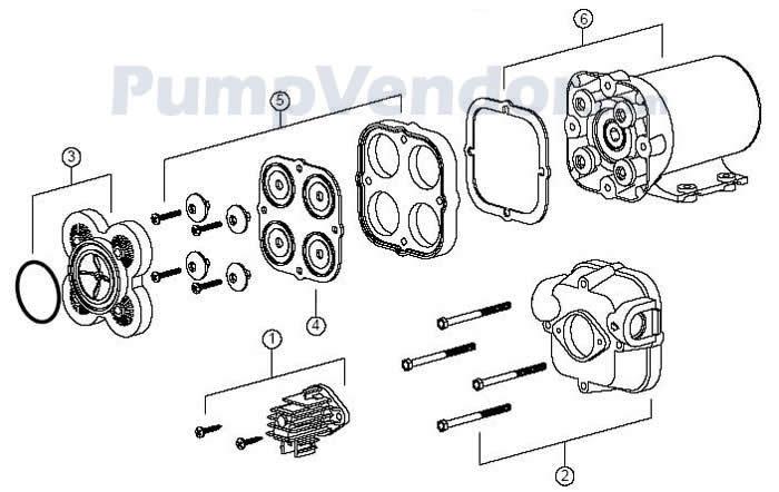 Jabsco 30700-0092 Parts List