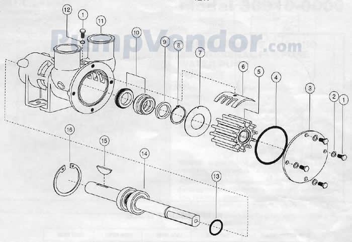 Jabsco 30910-0000 Parts List