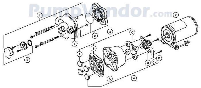 Jabsco 31595-0092 Parts List