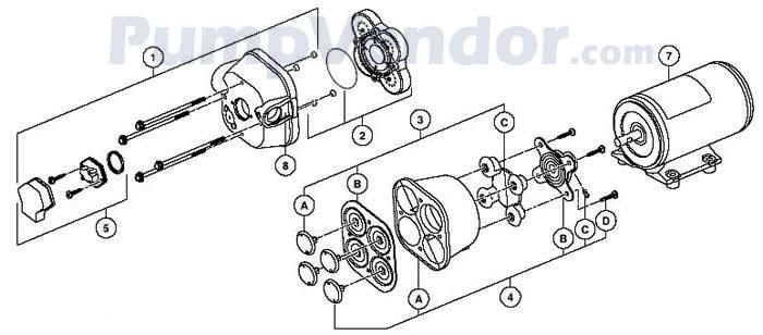 Jabsco 31605-0092 Parts List